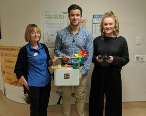Charge nurse manager: Shirley Bell, Starlit Hope volunteers: Tom Devine (Gabby's Cousin), Ella...