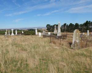 Drybread Cemetery, near Omakau. Photo: Supplied