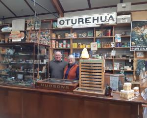 Gilchrist's Store owners John and Helen Hellier are surrounded by history in their Oturehua...