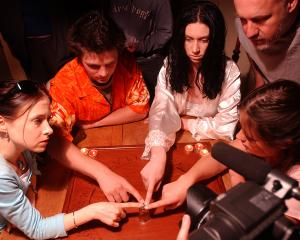 In 2004, Anita Cumming (left) appeared in the film Belief, shot in Dunedin. Photo: ODT files