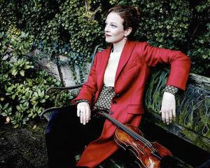 Carolin Widmann plays at the Dunedin Town Hall on Wednesday. Photo: Supplied