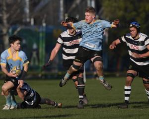 University and Southern in action at Bathgate Park this afternoon. Photo: Gerard O'Brien
