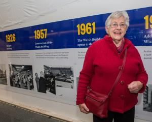 Former Faculty of Dentistry Dean Sir John Walsh's daughter Dame Elizabeth Hanan, of Dunedin, with...