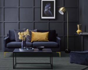 This twisted dark room, painted Resene Twilight Zone, has been given added visual interest with...