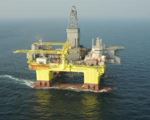 The self-propelled semi-submersible oil rig COSL Prospector could be test drilling southeast of...
