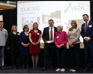 Descendants of Robert Young, of Creekside farm, attending a New Zealand Century Farm awards...