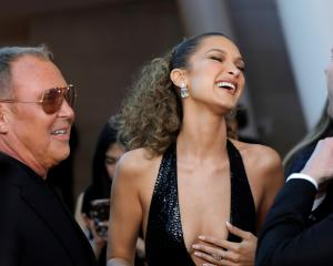 Designer Michael Kors and model Bella Hadid arrive for the 2019 CFDA Awards at the Brooklyn...