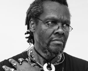 US artist Lonnie Holley plays at the Captain Cook hotel on Tuesday. Photo: Supplied