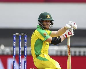 David Warner was granted a fortunate reprieve after the zing bails failed to dislodge after the...