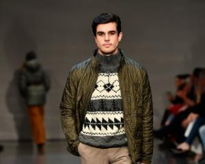 Alex Hillary, grandson of Sir Edmund Hillary, walks the runway during the Edmund Hillary show...