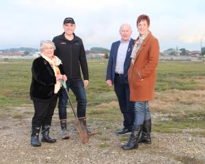Southland Community Housing Group member Margaret Cook and chairman Shaun Drylie, Habitat for...