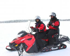 Eleanor Hughes waits to get the all clear to drive a snowmobile. PHOTOS: SUPPLIED