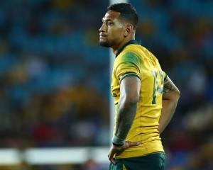 Israel Folau was unable to help the Wallabies to victory against Argentina on Saturday. Photo:...
