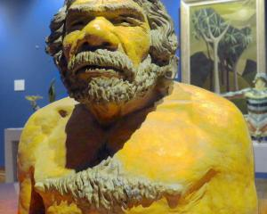Neanderthal bust, (Unknown artist)