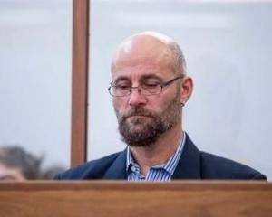Nigel Edgecombe sits in the dock at Wellington District Court for sentencing. Photo: Stuff via NZME