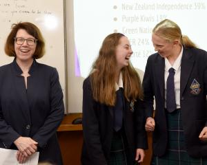 As New Zealand chief electoral officer Alicia Wright, of Wellington, announces the winners of a...