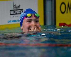 Erika Fairweather celebrates qualifying for the Fina World Championships by winning gold in the...