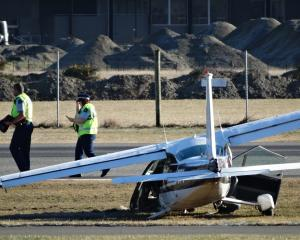 The crashed Cessna 177. PHOTO: GUY WILLIAMS/FILE PHOTO