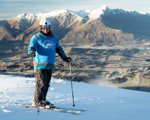 Brendan Lindsay, of Christchurch, pictured at Coronet Peak on Wednesday. Photo: Coronet Peak