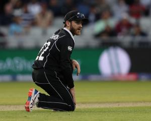 Black Caps captain Kane Williamson in the field against West Indies. Photo: Reuters