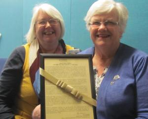 Mid Canterbury Federation of Women's Institute's past-president Jude Vaughan and president Mavis...