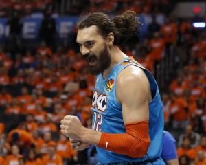 Steven Adams has played 467 games for the OKC Thunder and zero for the Tall Blacks. Photo: Reuters