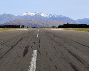 Wanaka airport runway. PHOTO: STEPHEN JAQUIERY