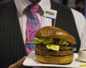 Air New Zealand serves the Impossible Burger on its US-NZ flight. Photo: Supplied