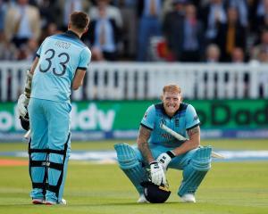 England's Ben Stokes reacts. Photo: Reuters