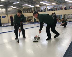 Competing over the weekend at the New Zealand Curling Championships in Naseby are curling...