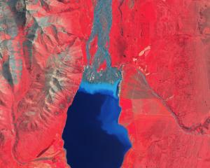 A satellite image sourced by Xerra shows Lake Tekapo. PHOTO: SUPPLIED