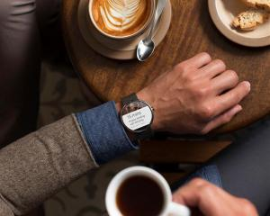 A Moto 360 smartwatch. REUTERS/Motorola Mobility, LLC