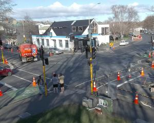 Work has started on a Barnes Dance at the Cumberland and Albany Sts intersection, one of two on...