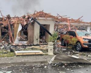 An explosion damaged six houses in Christchurch this morning. Photo: Supplied/James Looyer