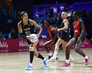 Maria Folau in action for the Silver Ferns against Malawi at M&S Bank Arena in Liverpool....