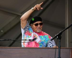 Art Neville performs with The Meters during the 2015 New Orleans Jazz & Heritage Festival....