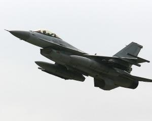 South Korea scrambled F-15 and F-16 (pictured) fighter jets in response to the intrusions. Photo:...
