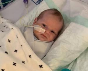 One-month-old Kaan Hunter has been diagnosed with an extremely rare condition infantile...