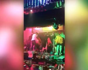 The collapse took place at the Coyote Ugly club in Gwangju. Source: YouTube / SwimSwam NewsClips