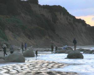 The Moeraki Boulders, south of Oamaru, are one of 43 identified ''geosites'' in the Waitaki...