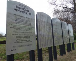"Panels erected at Oamaru Old Cemetery recognising the people whose graves were ""lost"" when more..."