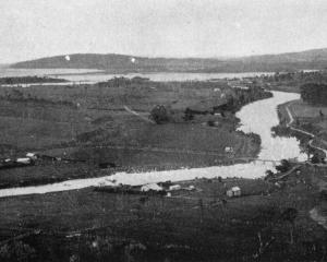 The Owaka River near its junction with the Catlins estuary. - Otago Witness, 2.7.1919