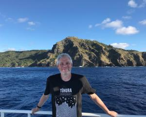 Otago Museum director and astronomer Dr Ian Griffin at Pitcairn Island. Photo: Otago Museum