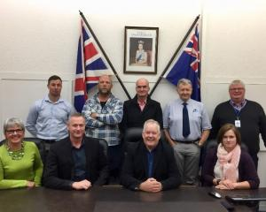 Waimate-Waitaki Mycoplasma bovis Advisory Group members (back row, from left) Federated Farmers...