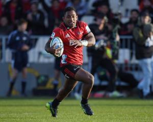 Crusaders winger Sevu Reece impressed enough to gain All Blacks selection this year. Photo: Getty...