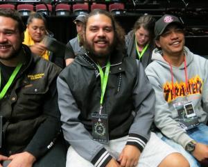 Krishan Dick-Karetai, of Mokotua (left), Hoani Dick, of Kapuka (centre) and Detroit Ririnui, of...