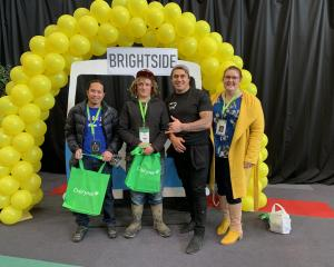 About 120 young farm workers registered for the BrightSide session during the event. From left...