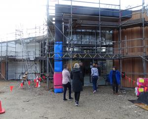 Members of the public were able to see the progress made on the Wanaka Community House during its...