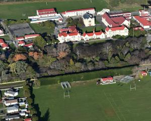 An aerial photo of Waitaki Boys' High School taken in 2017. Photo: Peter McIntosh