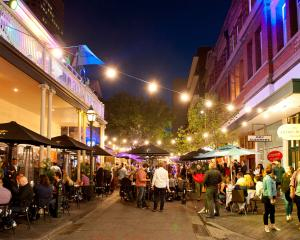 Adelaide's Leigh St is full of life and eateries. PHOTO: SOUTH AUSTRALIAN TOURISM COMMISSION